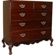 Anglo Indian Chippendale Rosewood and Mahogany Chest of Drawers on Stand