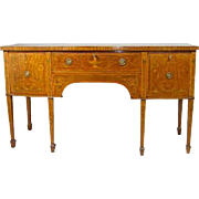English Regency Style Inlaid Mahogany Sideboard