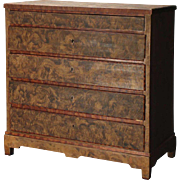 Swedish Faux-Grain Painted Pine Chest of Drawers