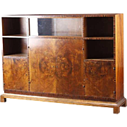 Danish Art Deco Rosewood Veneer Bookcase Display Cabinet