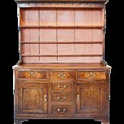 English Georgian Painted Oak Dresser