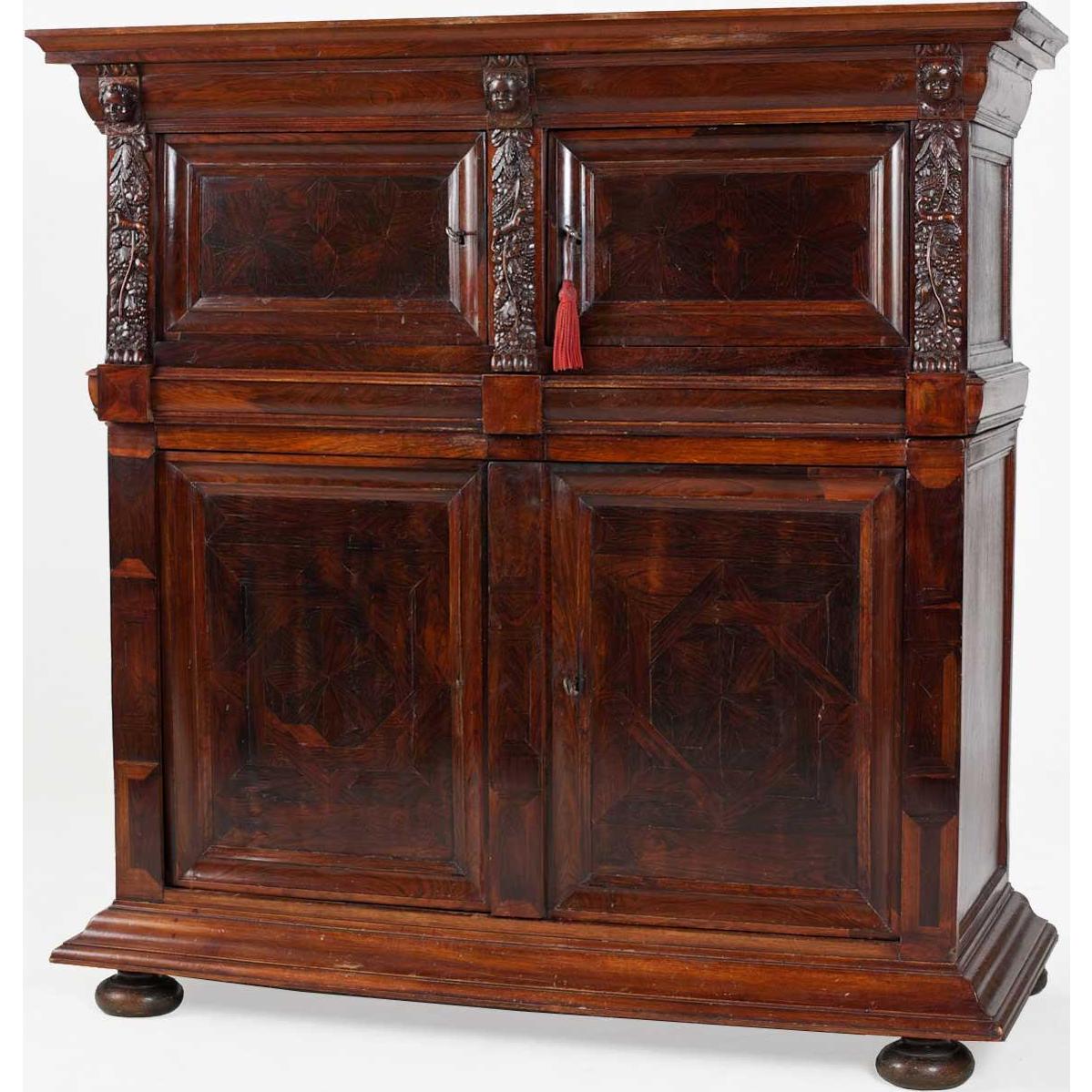 Dutch Baroque Rosewood Veneer Cabinet