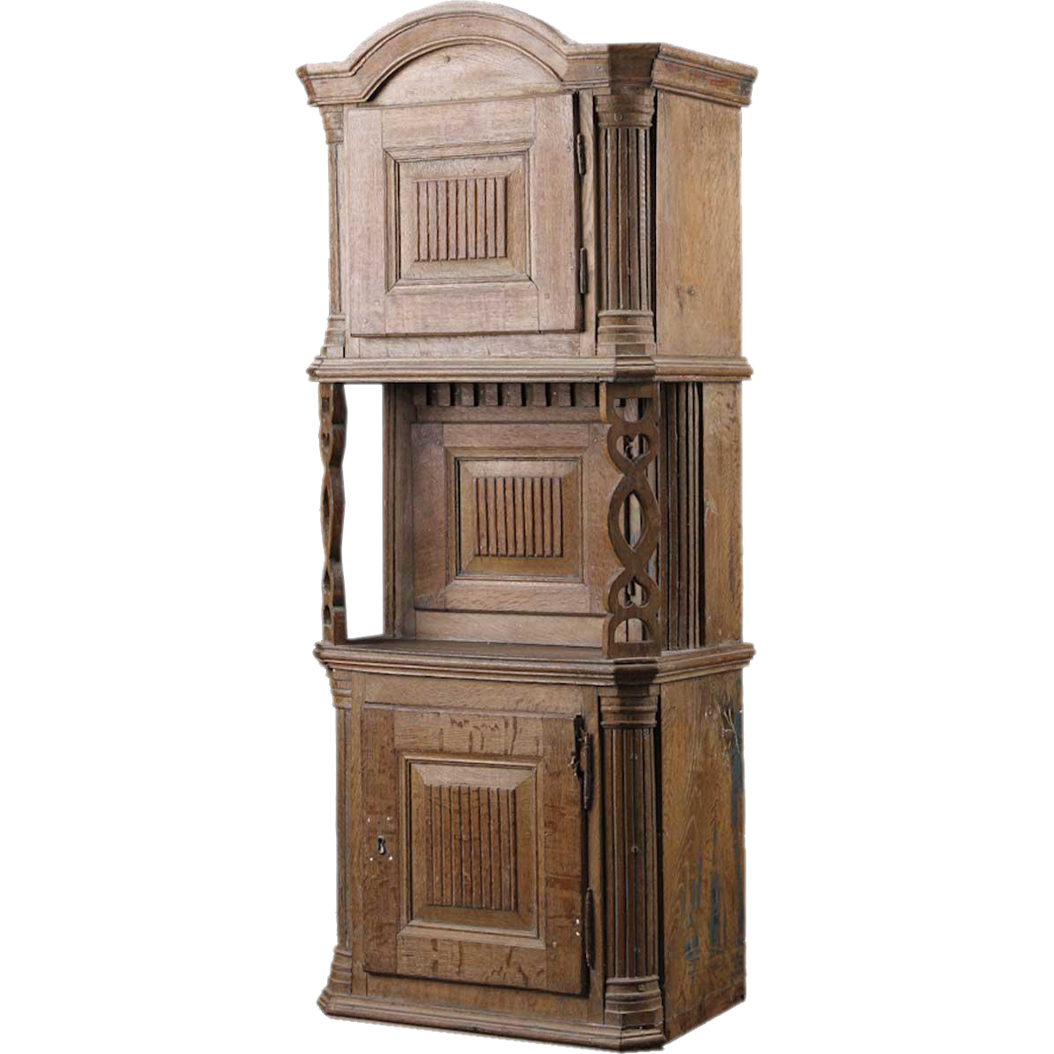 Swedish Oak Tall Tobacco Cabinet