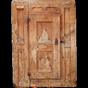 Swedish Dalarna Pine Folk Art Cabinet