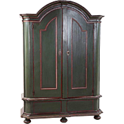 Northern German Painted Pine Armoire