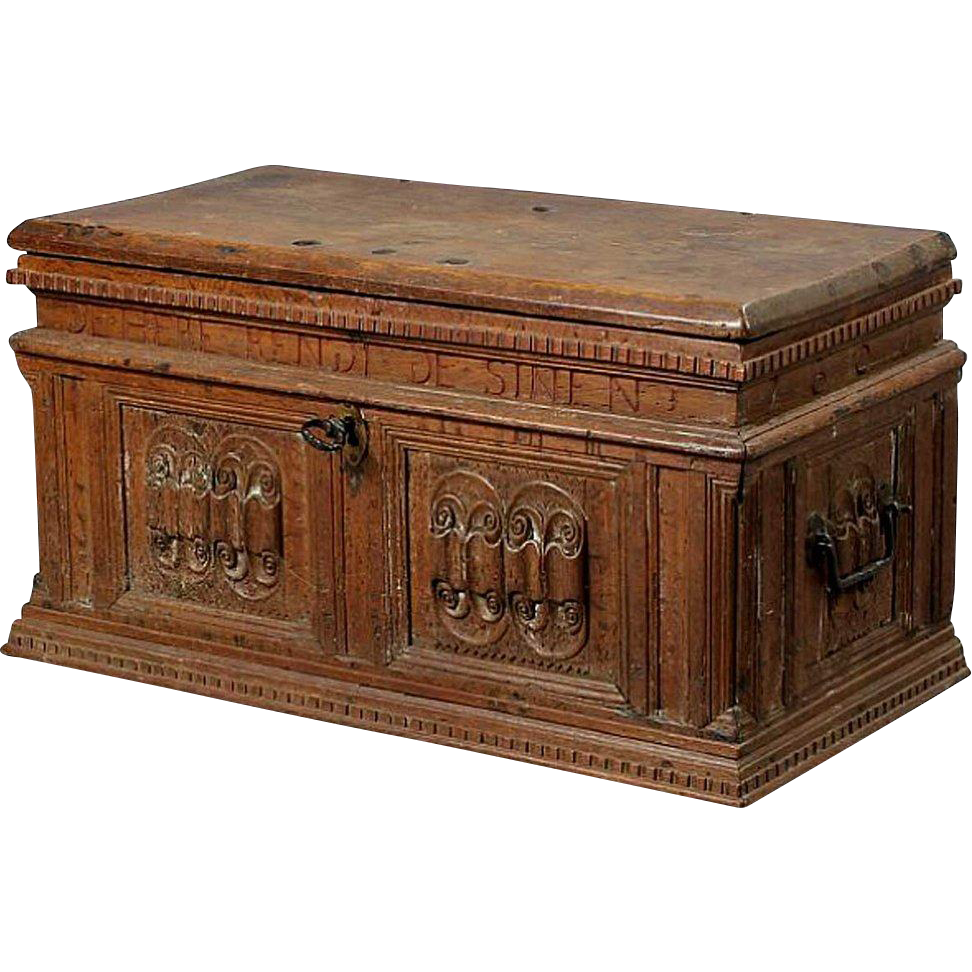 Danish Baroque Oak Coffer Trunk