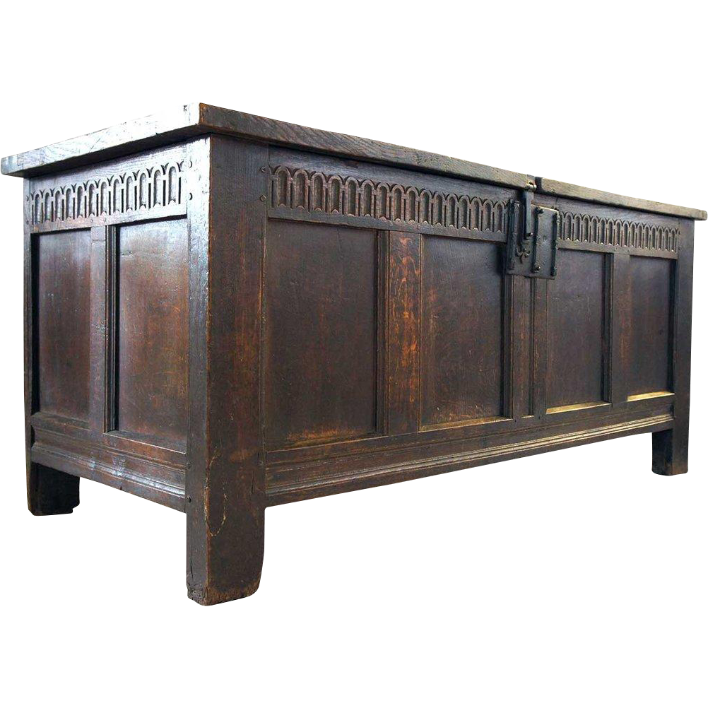 English William & Mary Period Oak Coffer