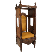 Indo-Portuguese Solid Rosewood Confessional Chair
