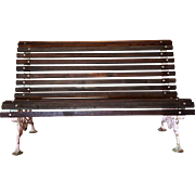 French Painted Cast Iron Garden / Park Bench
