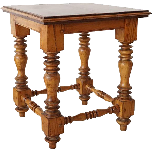 Antique Anglo Indian SOLID Satinwood and Rosewood Stool or Low Table