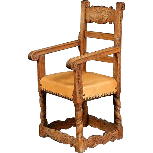 Spanish Oak and Pine Armchair