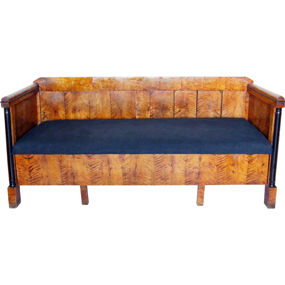 Swedish Empire Flame Grain Birch Sofa