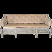 Swedish Gustavian Painted Pine Trough Sofa (Tragsoffa)