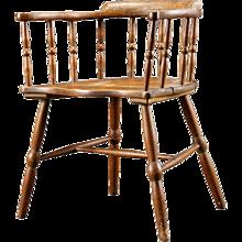 English Oak and Pine Windsor Armchair