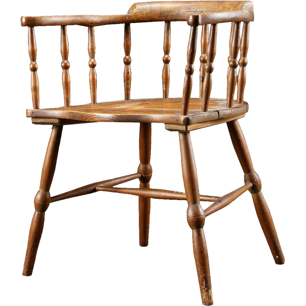 English Oak and Pine Windsor Armchair