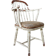 Early Swedish Gustavian Painted Pine and Birch Windsor Style Chair