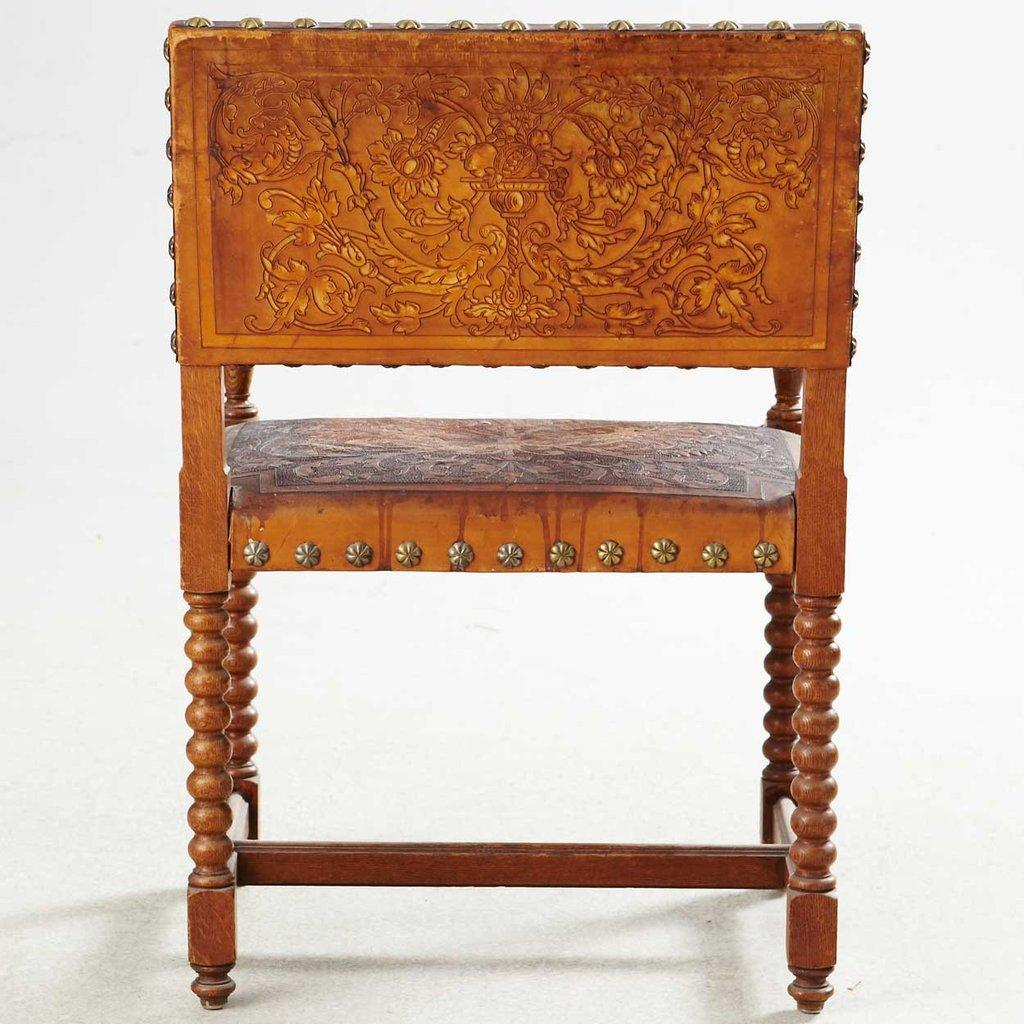 French baroque style oak armchair from eronjohnsonantiques for French baroque style