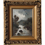 ECKERT Oil on Canvas Painting, River Landscape
