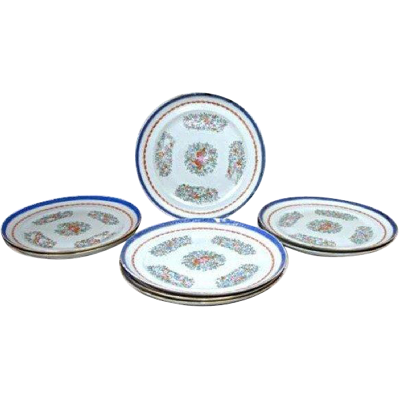 Set of 8 Chinese Export Porcelain Plates
