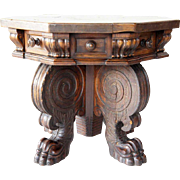 Northern Italian Renaissance Walnut Octagonal Side Table