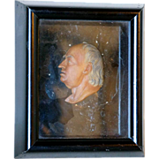 English George III Wax Portrait Relief of Samuel Johnson