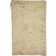 Early American School Book, Mathematics by Daniel Lawrence