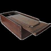 Anglo Indian Teak Slide Top Spice Box