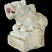 Indian Stone Vyala Architectural Figural Bracket