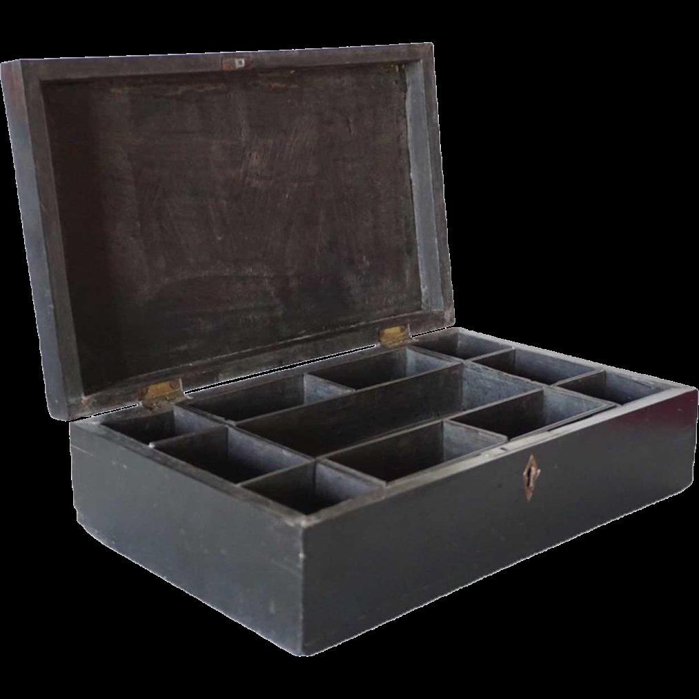 Anglo Indian George III Ebony Desk Box