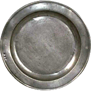 English Pewter Charger Plate