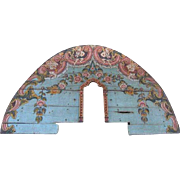 Indo-Portuguese Painted Teak Architectural Altar Fragment