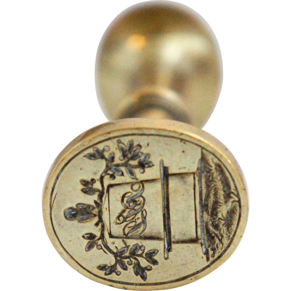 Continental Brass Double-Sided Wax Seal
