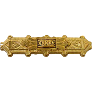 American Victorian Bar Pin