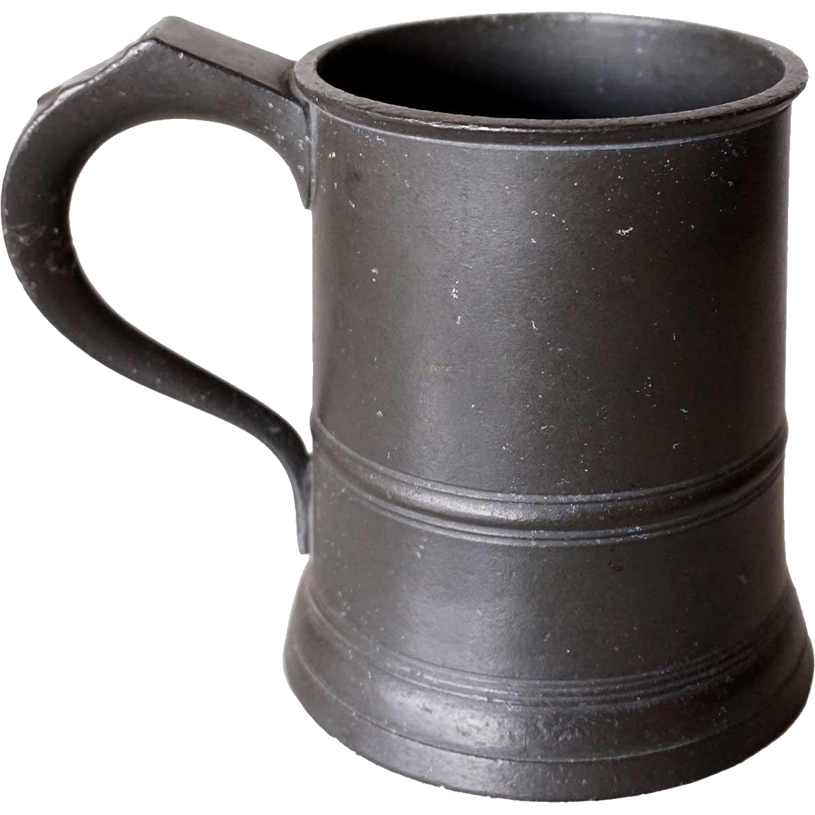 English Victorian Pewter Pint Tavern Drinking Mug