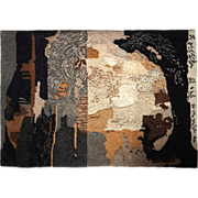 ROBERT LYNN CRANFORD Hand Woven Wool Tapestry, Capricorn IV