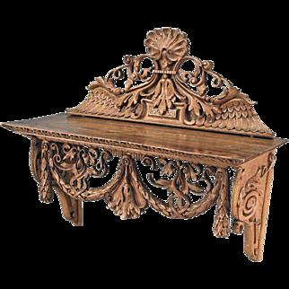 Small Swedish Neoclassical Birch Bracket Shelf