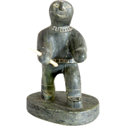 Vintage Canadian Inuit DIMU Soapstone Figure of a Hunter