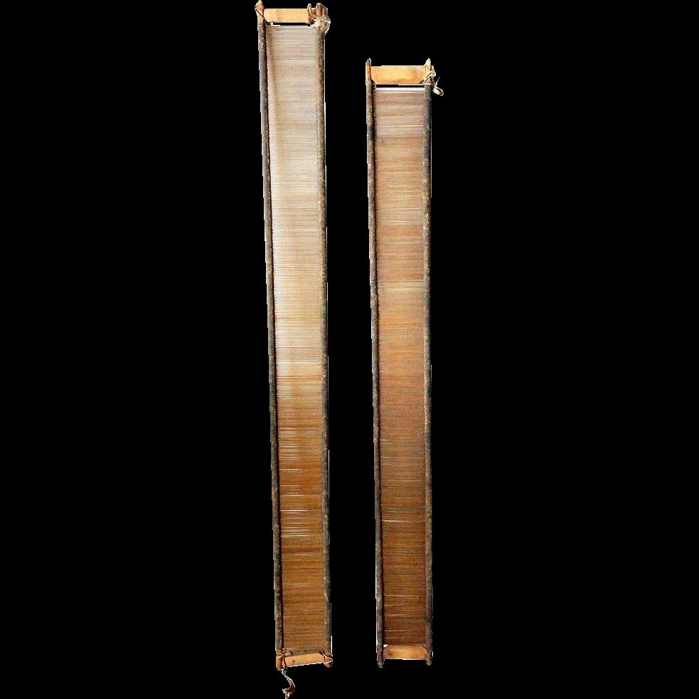 Two Early Scandinavian Primitive Pine Loom Reeds