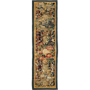 Flemish Baroque Tapestry Panel Fragment