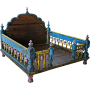 Indian Painted Teak Table-Top Shrine
