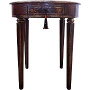 EQUATOR FURNITURE French Style Painted Round Side Table