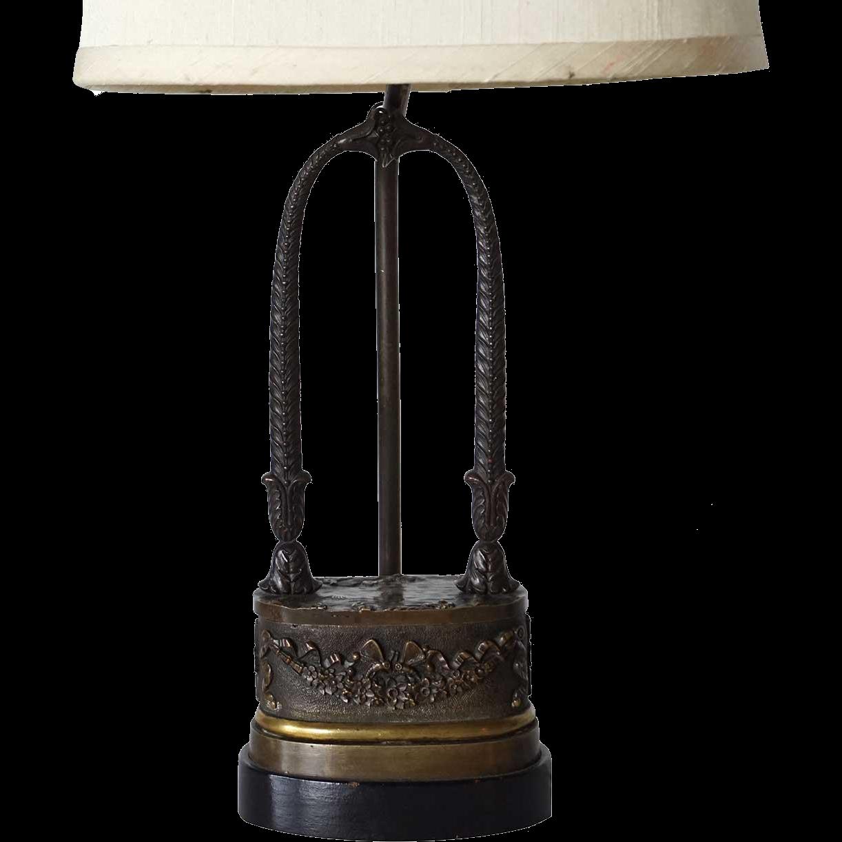 Neoclassical Bronze Table Lamp