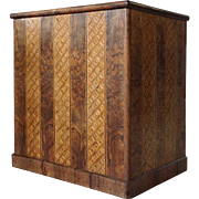 F-42-0014 German Inlaid Circassian Walnut Lift-Top Box