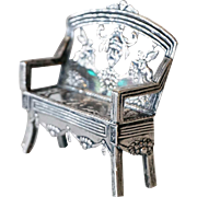 Dutch Silver Miniature Model of a Settee