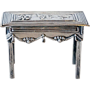 Antique Dutch Silver Doll House Miniature Model of a Table