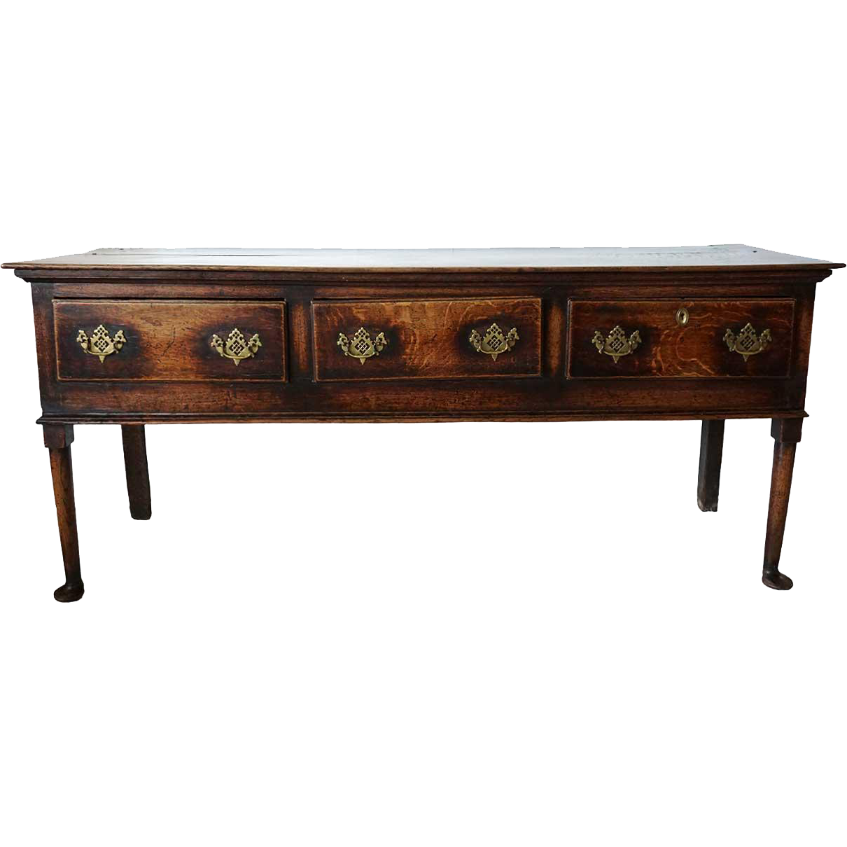 English George II Oak Sideboard or Dresser Base
