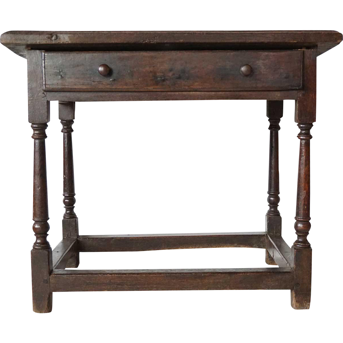 English Georgian Oak Side Table