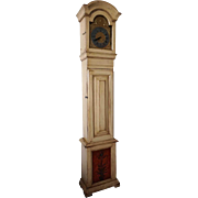 Swedish Baroque Painted Pine Grandfather Clock