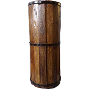 Primitive Staved Wooden Butter Churn Bucket