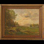HARVEY OTIS YOUNG Oil on Canvas Landscape Painting